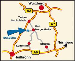 Anfahrt nach Boxberg