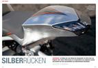Hot Shot: silberfarbener Aluminium-Gixxer mit Silverback-Rahmen
