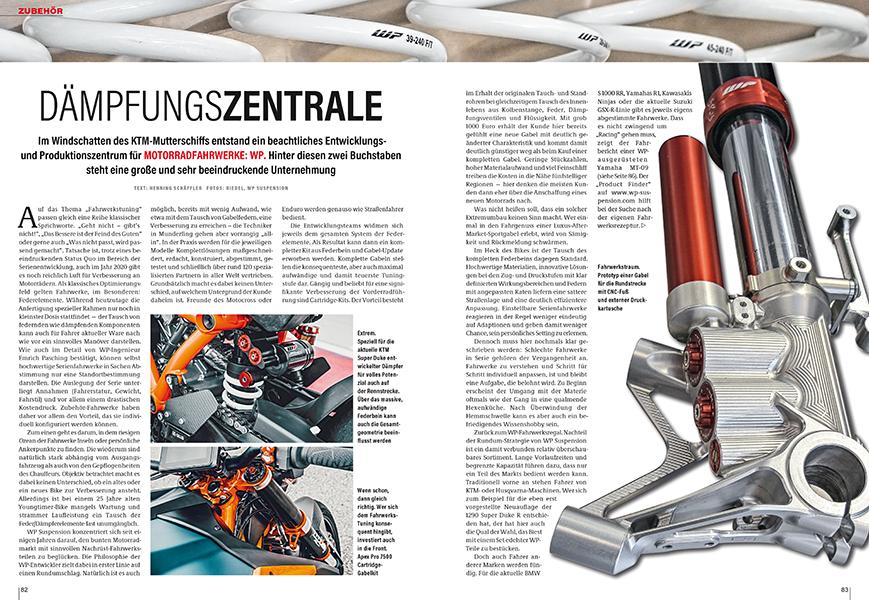 Vom österreichischen Hersteller WP Suspension: gibt es Fahrwerke für nahezu alle Motorräder
