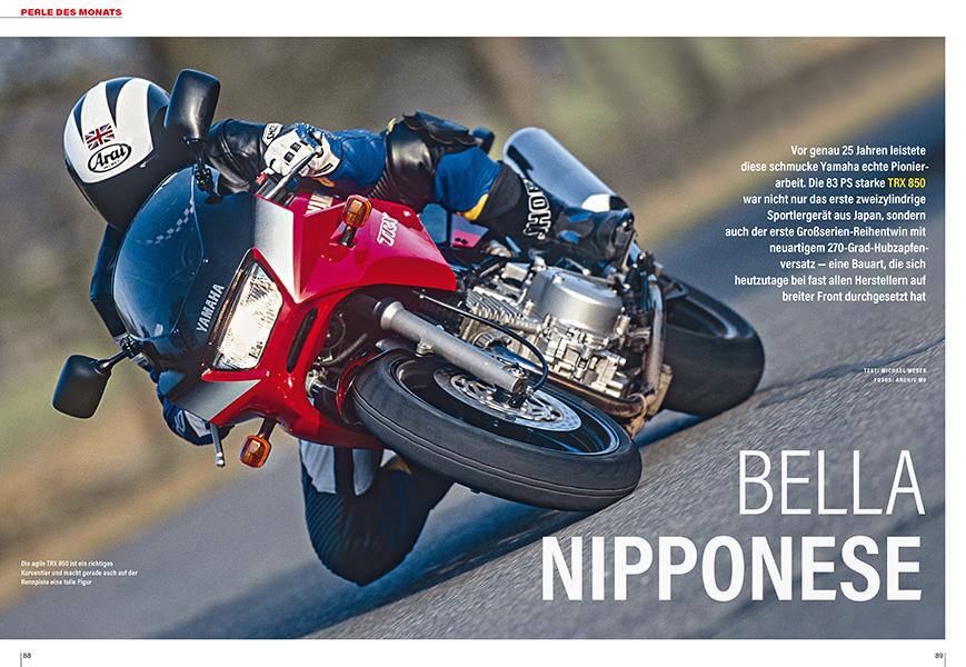 Perle des Monats: Die Yamaha TRX 850 eiferte der Ducati 900 Supersport nach
