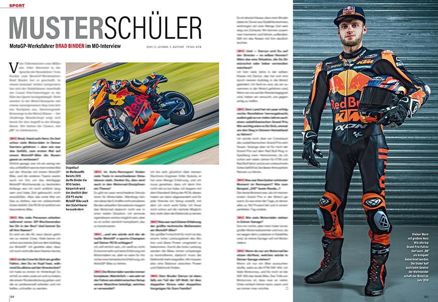 Der südafrikanische Nachwuchs-MotoGP-Racer Brad Binder im Interview