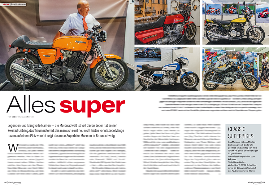 Voller Träume von damals: neues Superbike Museum bei Braunschweig