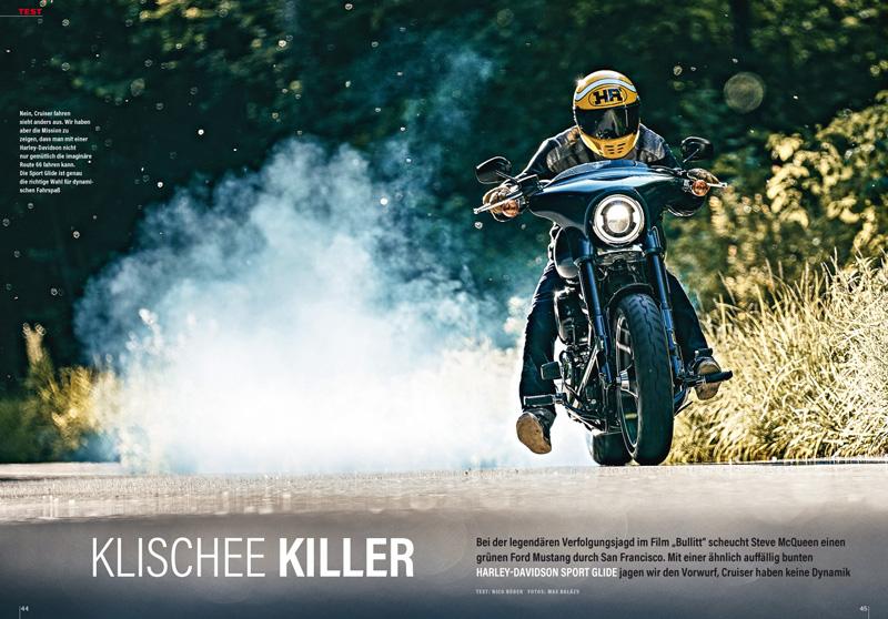 Mit der Harley Sport Glide kommt die Lebenslust unter sonst eher gemütliche Cruiser zurück