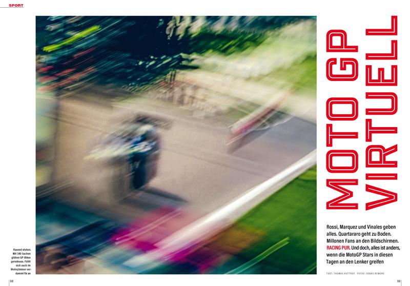 Wenn nicht echte, dann veranstalten die MotoGP-Rennfahrer virtuelle Rennen