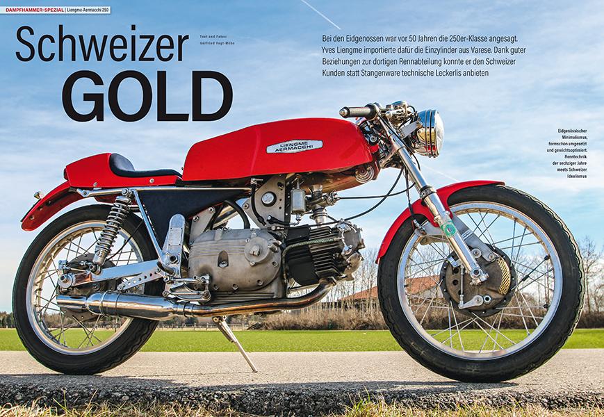 Dampfhammer Spezial: Liengme-Aermacchi 250, besser ausgestattet für Kunden und Rennfahrer in der Schweiz