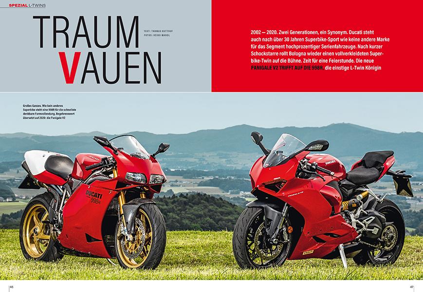 Ducati Panigale V2 und 998R: Superbikes mit L-Twins heute und vor 18 Jahren