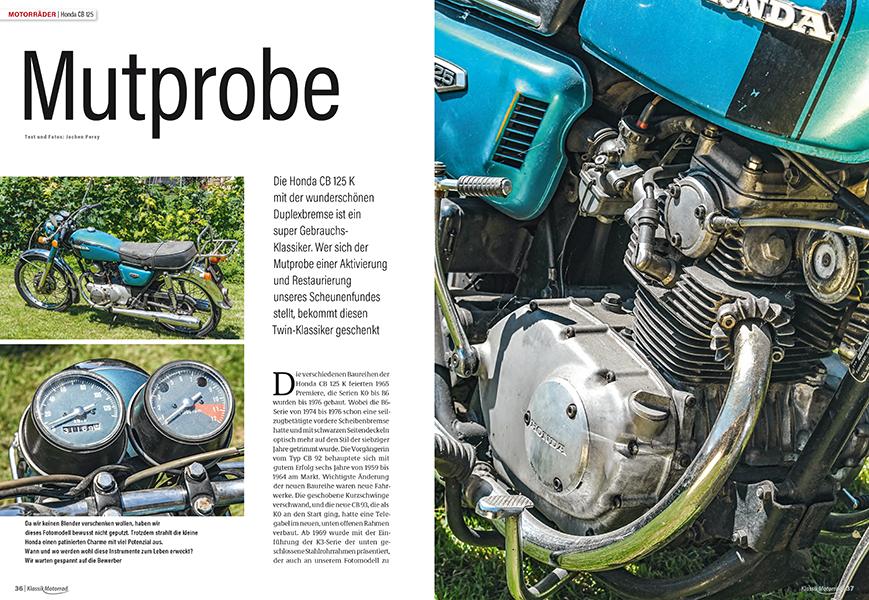 Honda CB 125 zu verschenken: Der Twin will restauriert werden