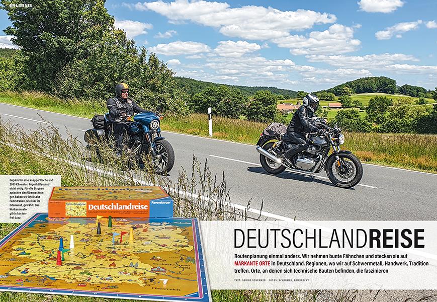 Deutschlandtour mit Harley-Davidson Sport Glide und Royal Enfield Continental GT 650