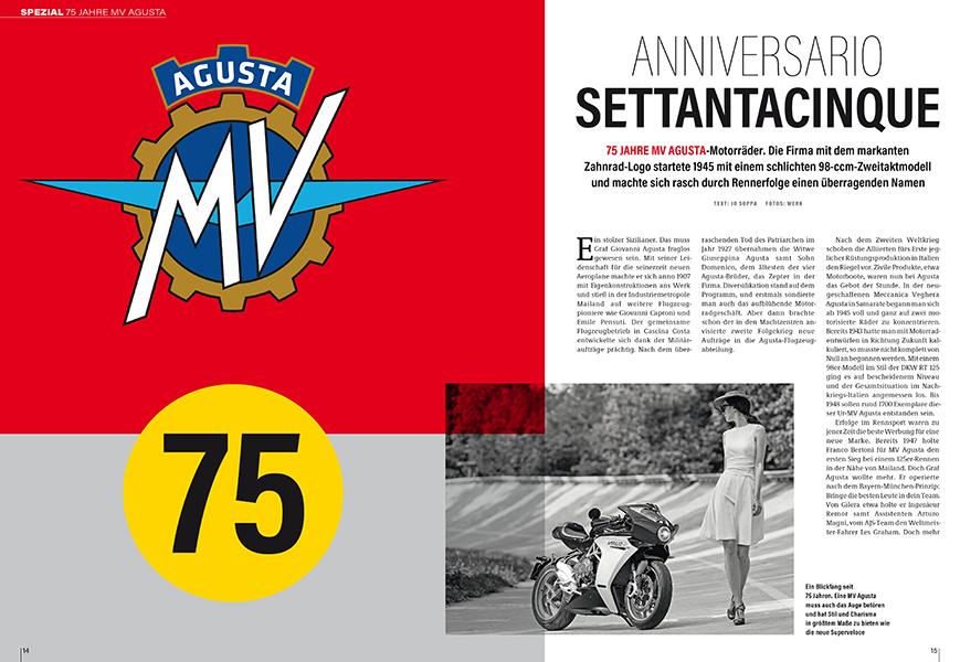 Großes Extra: 75 Jahre MV Agusta