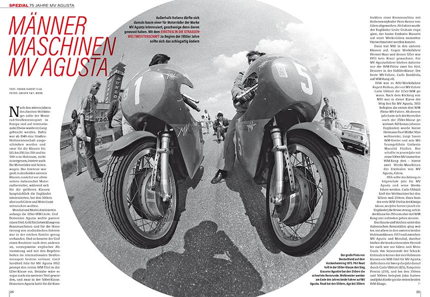 75 Jahre MV Agusta erfolgreich im Rennsport