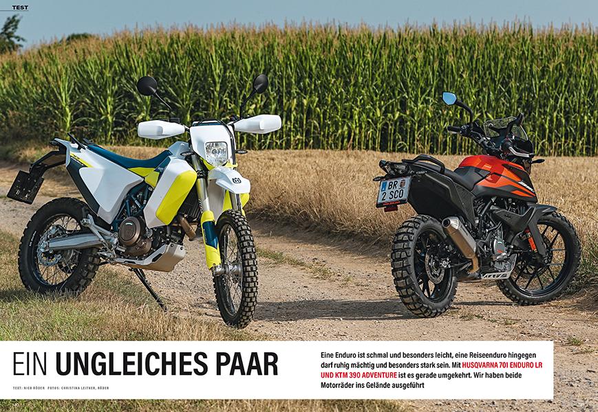 Test: KTM 390 Adventure und Husqvarna 701 Enduro Long Range