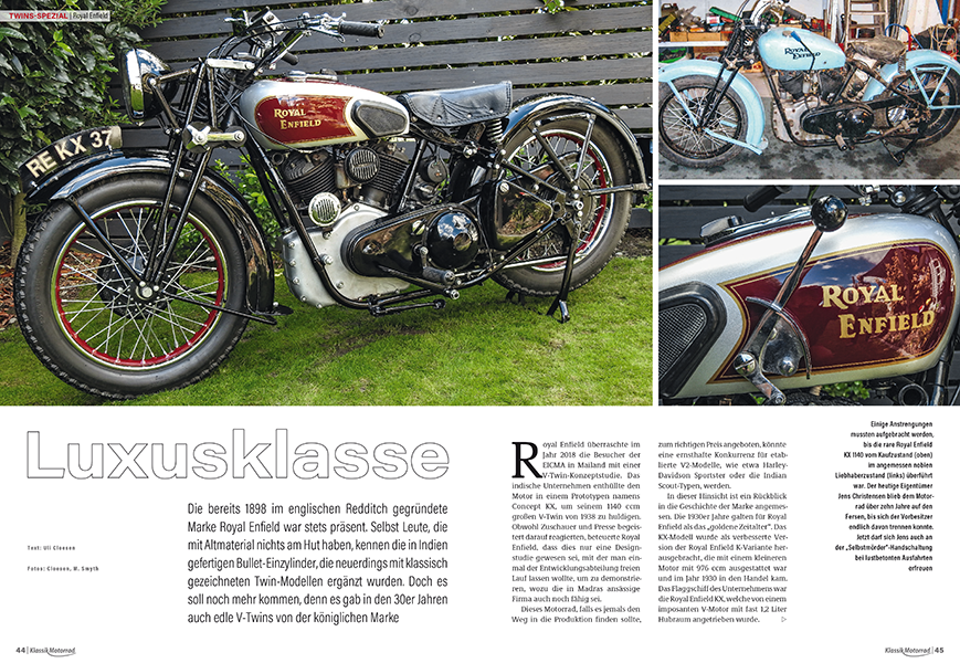 Twins-Spezial: Royal Enfield V-Twins in den 30er Jahren