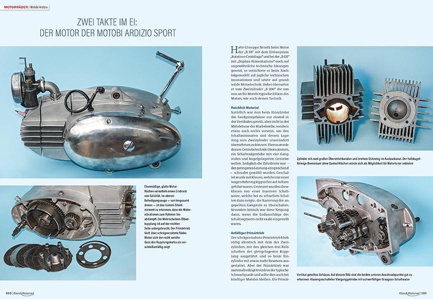 Motobi Ardizio Sport: die Details des Zweitakt-125er-Motors