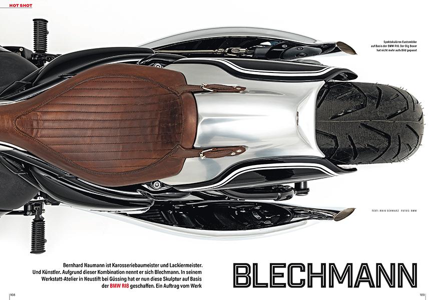 Hot Shot: BMW R18 mit Blechschale vom Blechmann