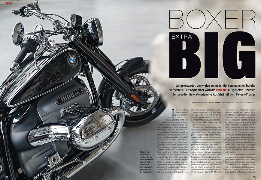Der größte aller Serien-BMW-Boxer, die neue R 18, zum ersten Mal getestet