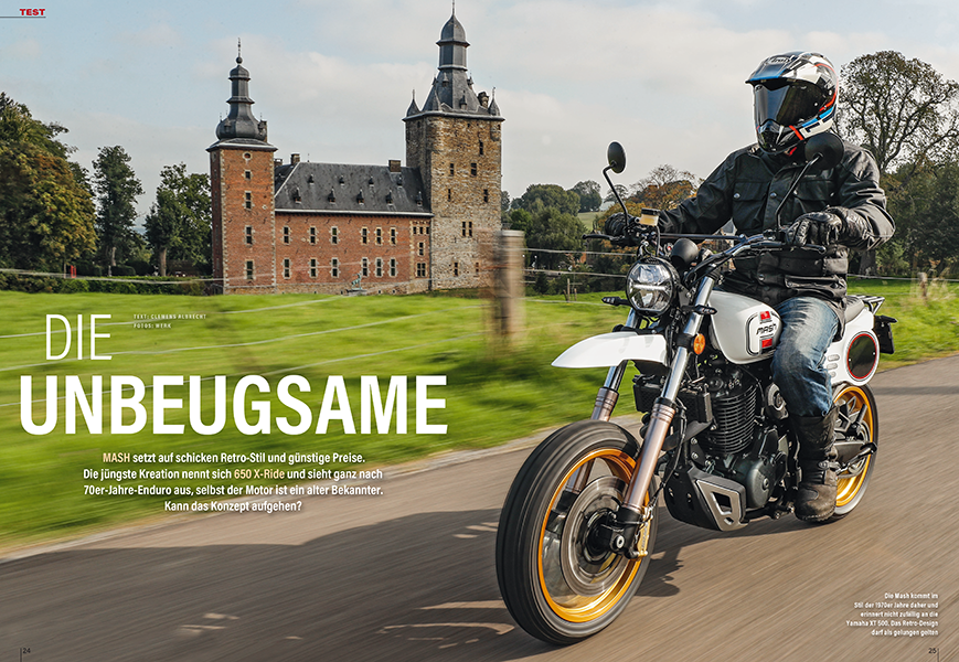 Sieht ganz wie die legendäre Yamaha XT 500 aus: Test der Mash X-Ride 650
