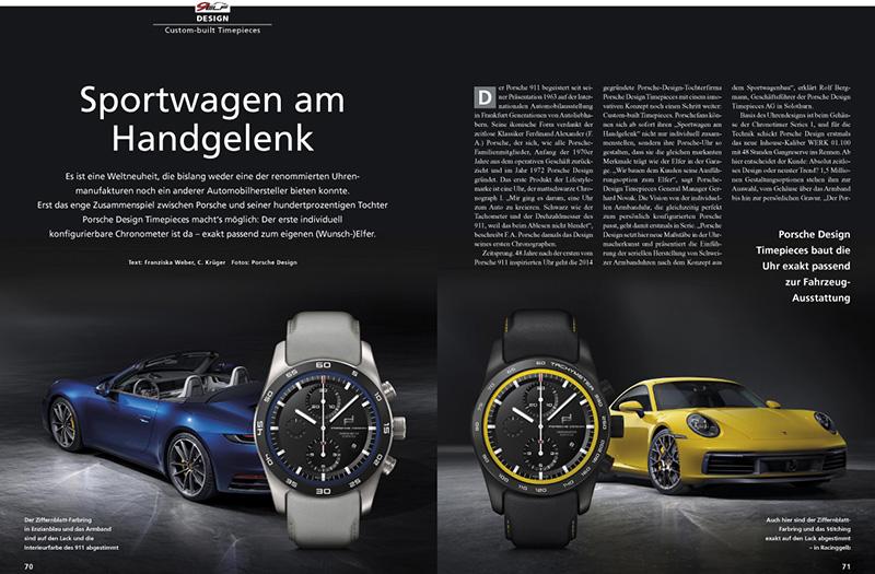 Die individuelle Uhr: Porsche Design Timepieces passend zum Auto