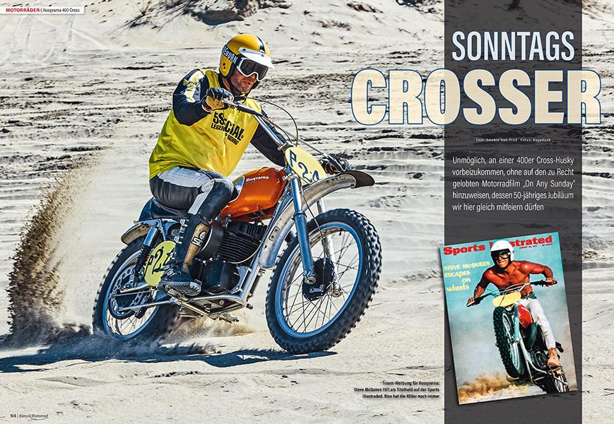 Husqvarna 400 Moto Cross: Auch Steve McQueen fuhr solch einen Zweitakt-Crosser