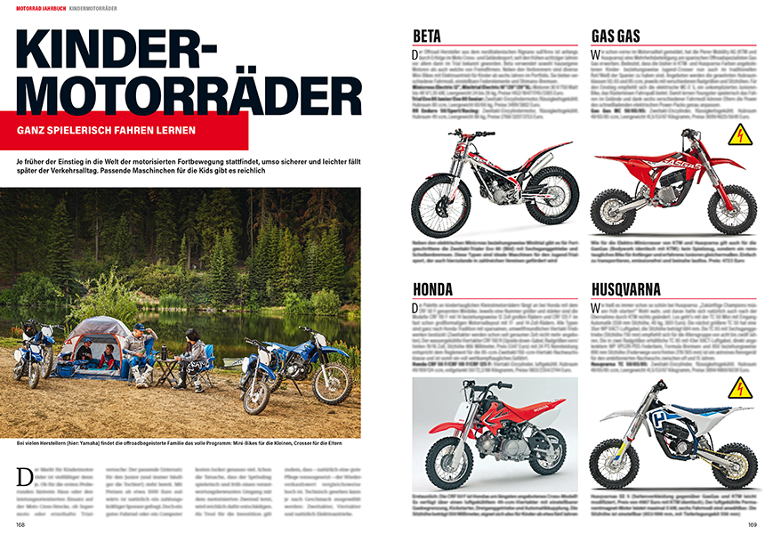 Extra-Kapitel: die Kindermotorräder