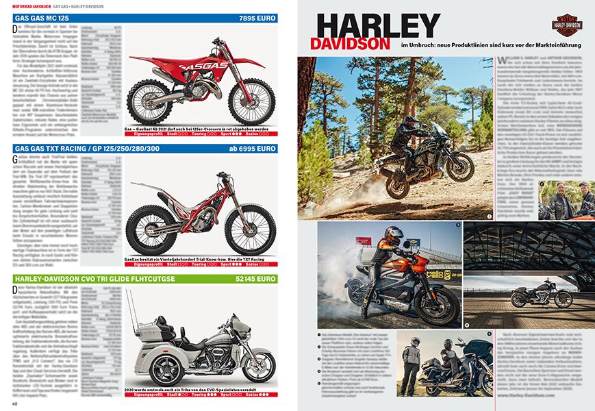 Gleich nach den Spezialisten von GasGas folgt die amerikanische Marke Harley-Davidson ...