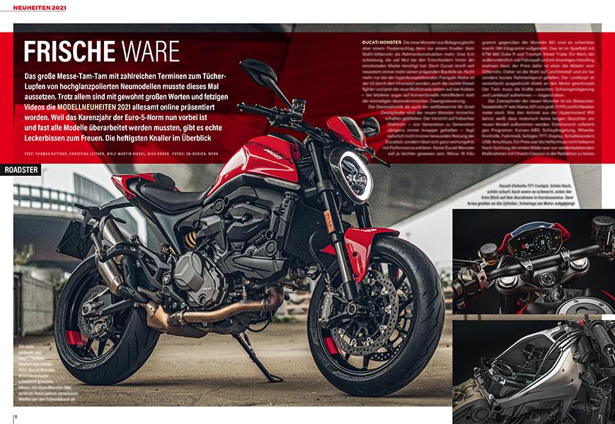 Neu für 2021: Ducati Monster mit Alu-Brückenrahmen