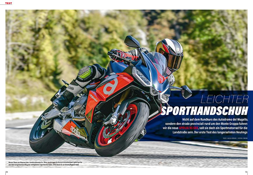 Test des neuen Leichtsportlers Aprilia RS 660
