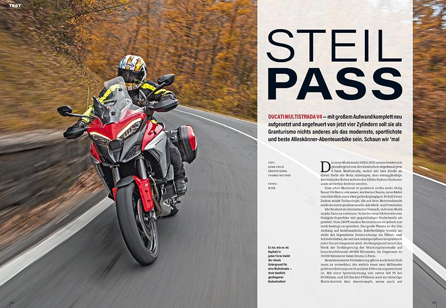 Test der genialen Ducati Multistrada V4 mit Vierzylindermotor