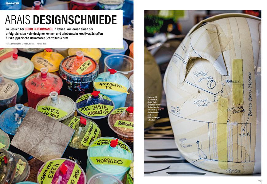 Helmdesigner Aldo Drudi erstellt sehr plakative Designs. Zu Besuch in seinem Atelier