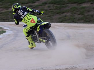 Valentino Rossi in vollem Drift