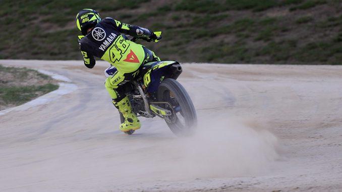Valentino Rossi in vollem Drift