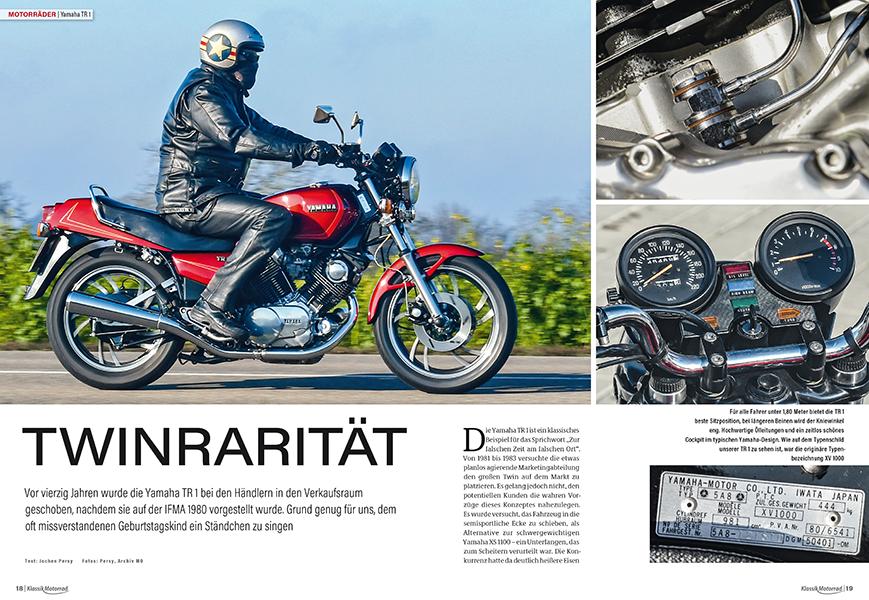 Von 1981 bis 1983 versuchte Yamaha, die TR 1 auf dem Markt zu platzieren. Der verdiente Erfolg blieb leider aus
