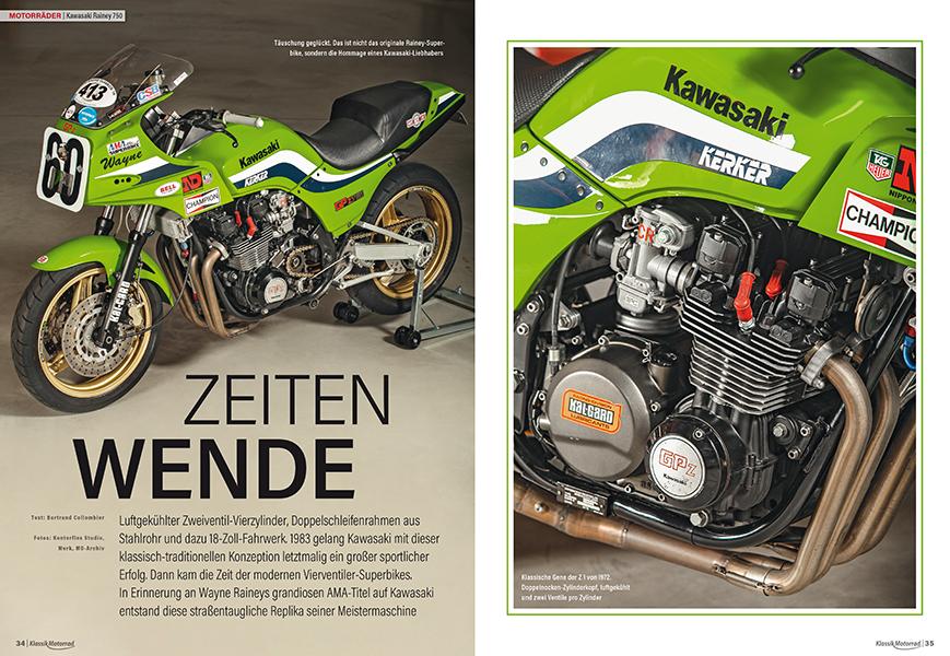 Replika des Kawasaki-Superbikes von Wayne Rainey