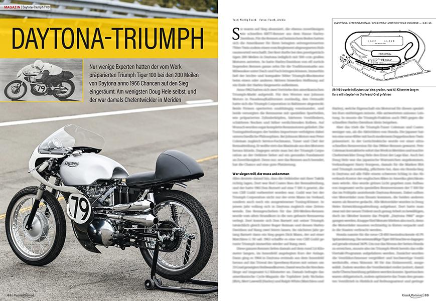 Triumph T100: Die 1966er-Siegermaschine der 200 Meilen von Daytona wurde wiederentdeckt und neu aufgebaut