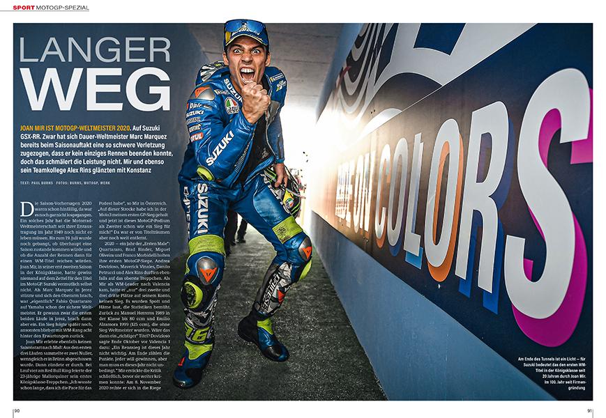 MotoGP-Spezial: Der erste Titel für Suzuki seit 2000 schien vor der Saison 2020 undenkbar
