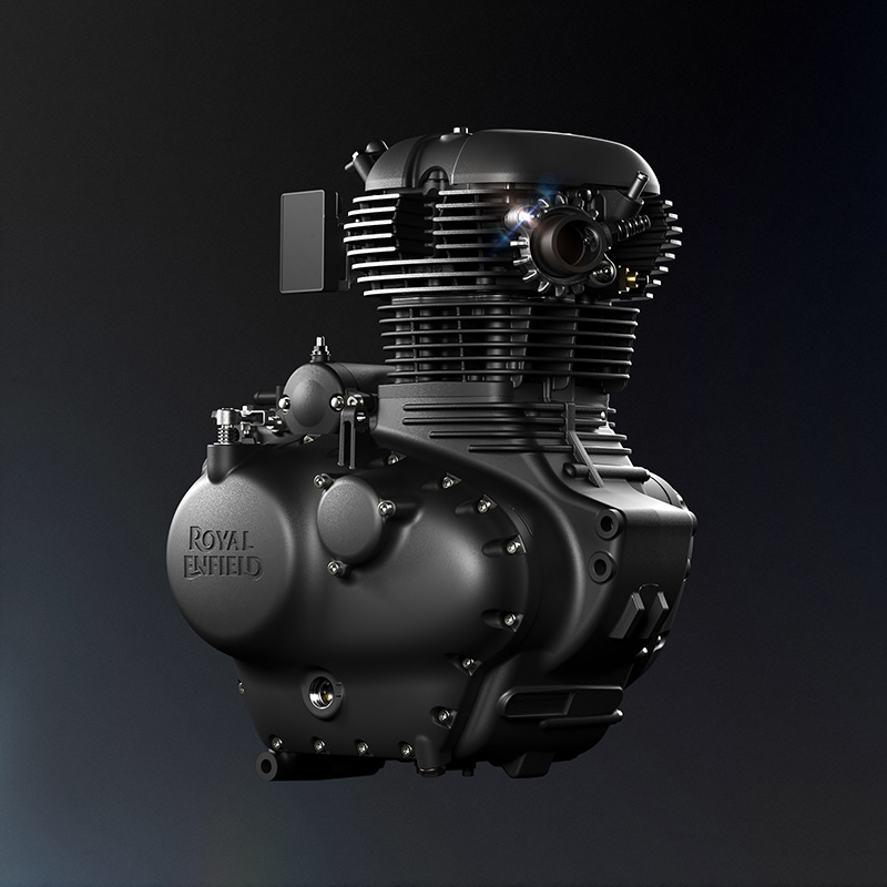 Luftgekühlter Einzylinder der Royal Enfield Meteor 350