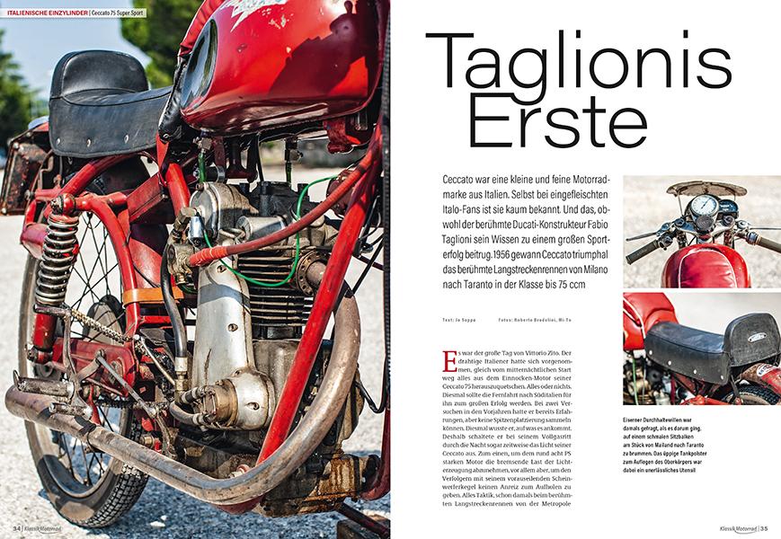 Italienische Einzylinder: Ceccato 75 Super Sport