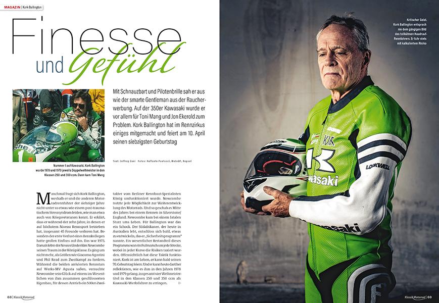 Das Bild von einem verwegenen Rennfahrer stellte Kork Ballington dar. Interview mit dem Südafrikaner