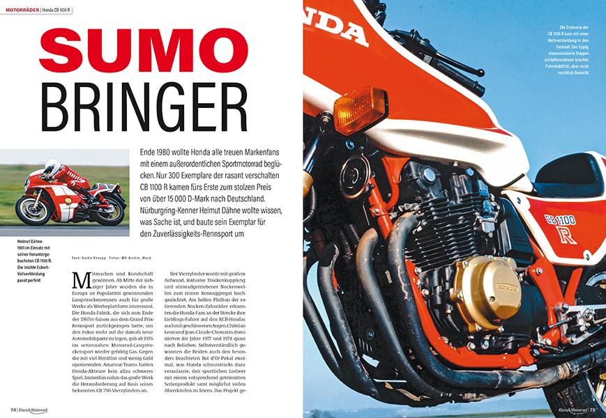 Honda CB 1100 R: Helmut Dähne setzte eine 1000er im Rennsport ein