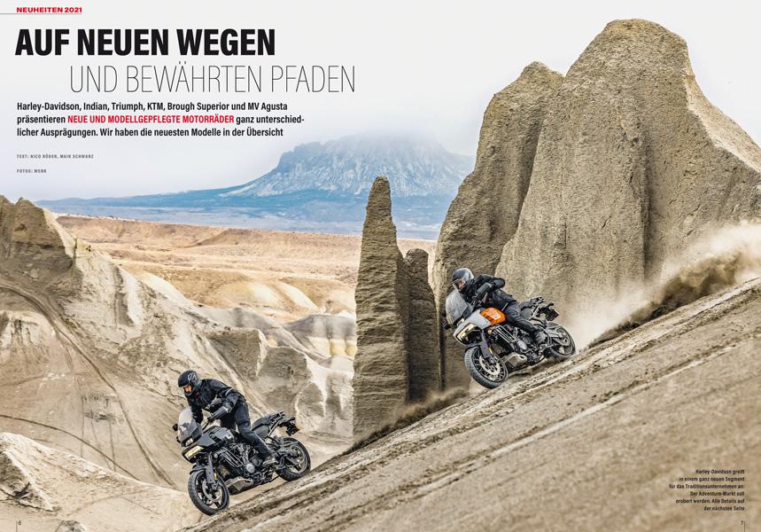 Neuheiten 2021 — allen voran die neue Harley-Davidson Pan America 1250