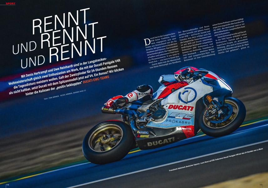 Deutsche in der Langstrecken-WM: Team ERC und Team Hertrampf jeweils mit Ducati Panigale V4 R