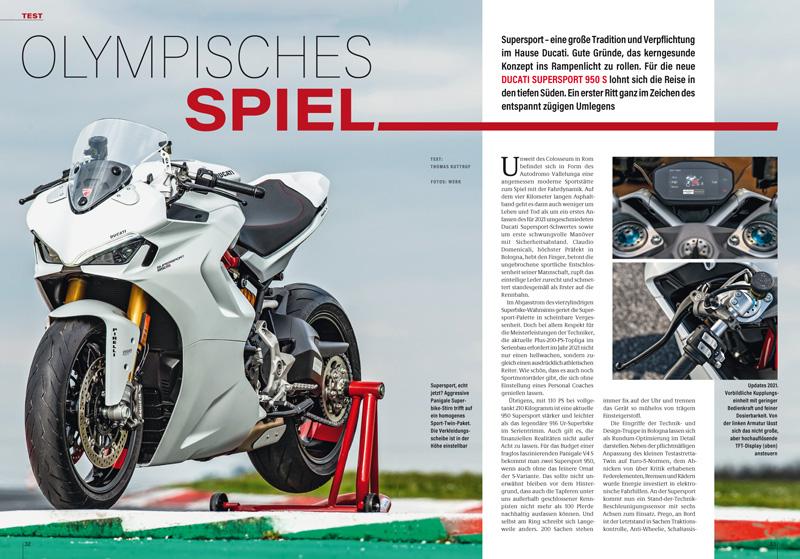 Ducati Supersport 950: Es gibt auch ein sportliches Leben unter 200 PS. Flott durch Leichtigkeit