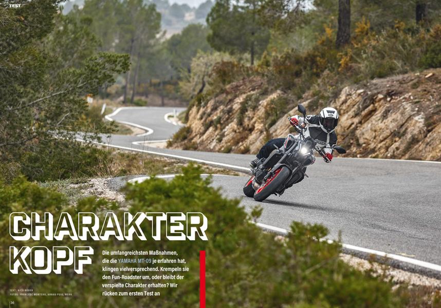 """Test der Neuauflage des Dreizylinder-Roadsters Yamaha MT-09 nach dem Motto """"The Dark Side of Japan"""""""