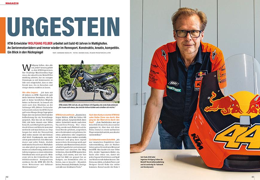 Portrait Wolfgang Felber: Der Ingenieur entwickelte KTMs von der ersten Duke bis zu den aktuellen MotoGP-Racern