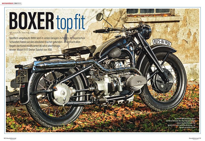 """BMW R 17 S von 1935: Trotz ihrer 86 Jahre wird die """"frisierte"""" Boxer-BMW noch ausgiebig auf Tourenfahrten genutzt"""