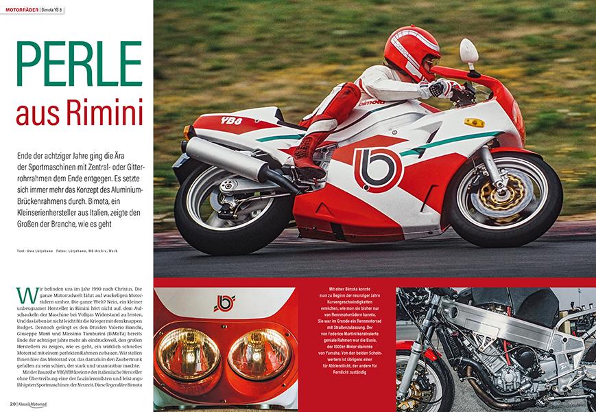 Bimota YB 8: ein echtes Rennmotorrad für die Straße. Dazu bärenstarke und zuverlässige Motorentechnik aus Japan