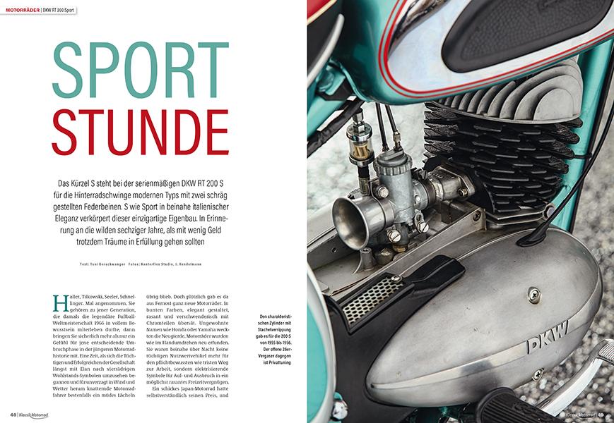 """Schickes Einzylinder-Zweitakt-Motorrad, das aus Italien stammen könnte: eine enthusiastisch """"frisierte"""" DKW RT 200 Sport"""