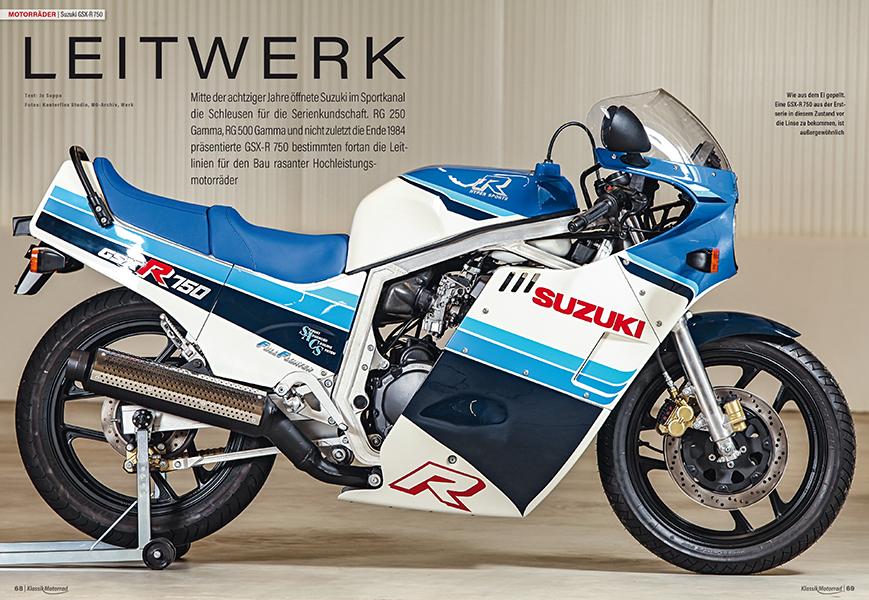 Suzuki GSX-R 750: rasante Optik, kräftiger Vierzylinder-Motor und leichtes Fahrwerk — das Begehren vieler sportlicher Fahrer wurde 1984 geweckt