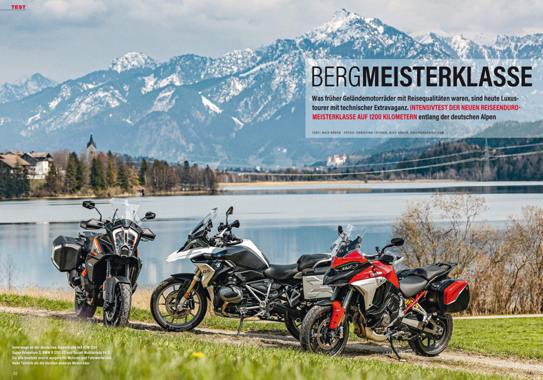 BMW R 1250 GS, Ducati Multistrada V4 S, KTM 1290 Super Adventure S im Vergleich ...