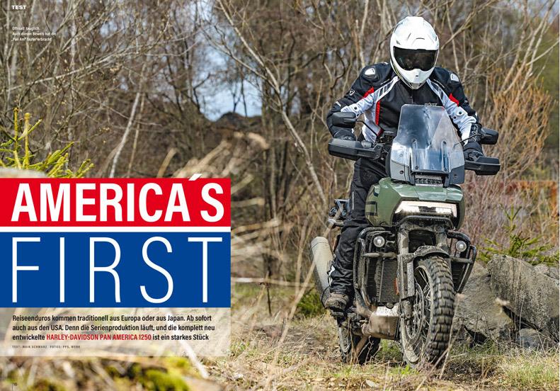 Ausgiebiger Test der brandneuen Reiseenduro Pan America von Harley-Davidson