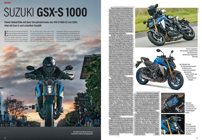 Neue Suzuki GSX-S 1000: Vierzylinder-Roadster mit dem bewährten Superbike-Motor